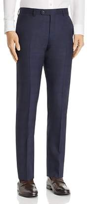 John Varvatos Tonal Shadow-Plaid Wool Slim Fit Suit Pants