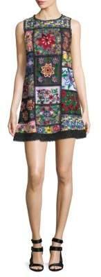 Alice + Olivia Marcelina Embroidered Tunic Dress