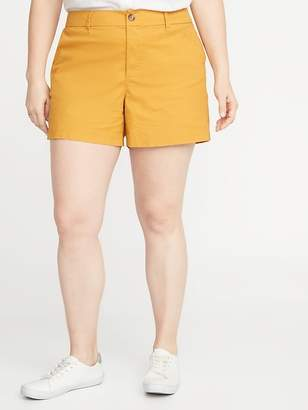 Old Navy Mid-Rise Plus-Size Everyday Twill Shorts - 5 inch inseam