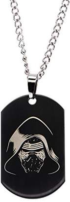 Star Wars Jewelry Episode 7 Kylo Ren Laser Etched Dog Tag Pendant Necklace