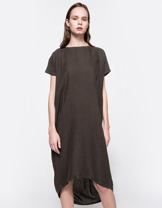 Pleated Cocoon Dress Charcoal $196 thestylecure.com