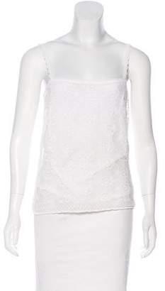 Christian Dior Linen-Blend Sleeveless Top