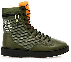 Diesel Men's Cage Leather Trim Boots