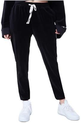 Juicy Couture Velour Side Stripe Slim Pant