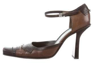 Prada Leather Mary Jane Pumps