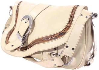 Christian Dior Gaucho Beige Leather Handbag