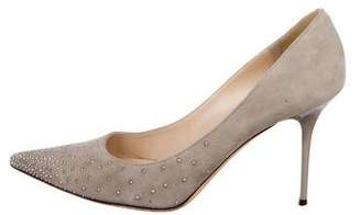 Jimmy Choo Studded Suede Pumps