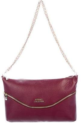 Versace Grained Leather Shoulder Bag
