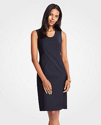 Ann Taylor The V-Neck Belted Sheath Dress in Tropical Wool
