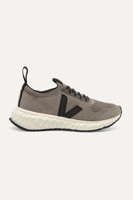 Rick Owens Veja Vegan-leather Trimmed V-knit Sneakers - Taupe