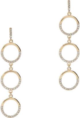 Mateo Three Tier Circle Drop Diamond Earrings