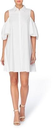 Women's Catherine Catherine Malandrino Zito Cold Shoulder Shirtdress $98 thestylecure.com