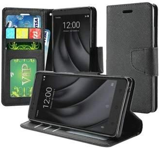 Armatus Gear T-Moblie Revvl Plus Case - Slim Folio Jacket Flip Wallet Case w/ Credit Card ID Slots For CoolPad T-Moblie Revvl Plus