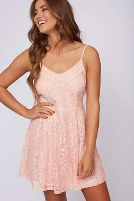 Peach Love California Pink Lace Dress