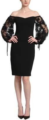 Badgley Mischka Off Shoulder Dress