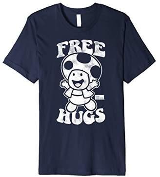 Nintendo Super Mario Toad Free Hugs Vintage Premium T-Shirt