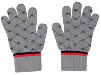 Armani Junior Boys' Logo Knit Gloves