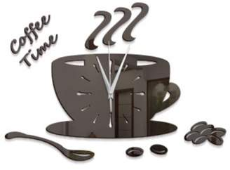 """Creative Motion Work with your hand to create a DIY Acrylic Coffee Cup Clock. It comes complete with clock, clock hands, coffee cup and an instruction. Product Size: Width: 8"""" x Height: 6"""" x Depth: 0.7"""""""