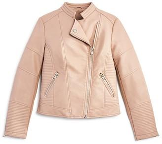 AQUA Girls' Faux Leather Jacket, Big Kid - 100% Exclusive $86 thestylecure.com