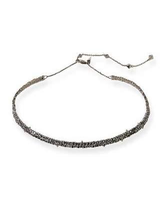 Alexis Bittar Crystal Encrusted Spike Choker Necklace, Black