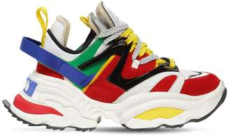 DSQUARED2 The Giant Chunky Leather Sneakers