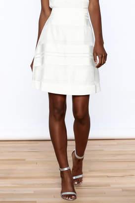 Sugar Lips White Stripes Skirt