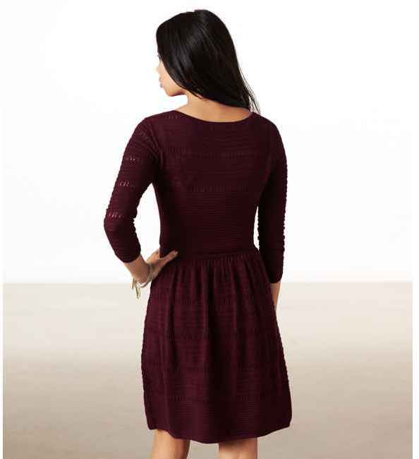 American Eagle AE Fit & Flare Sweater Dress