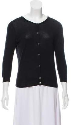 White + Warren Button-Up Knit Cardigan