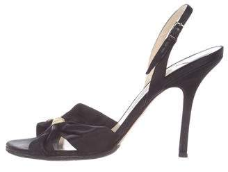Jimmy Choo Satin Ankle-Strap Sandals