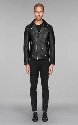 Mackage FENTON Genuine lamb leather vest with asymmetrical zipper