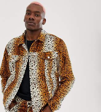 c1d9a38659 Reclaimed Vintage inspired leopard printed jacket