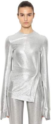 Paco Rabanne Stretch Lurex Jersey Long Sleeve Top