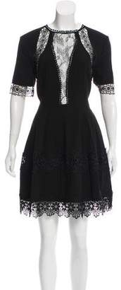 Nicholas Lace-Trimmed Mini Dress w/ Tags