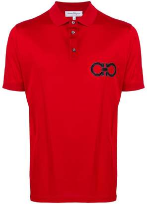 Salvatore Ferragamo double Gancio embroidered polo shirt