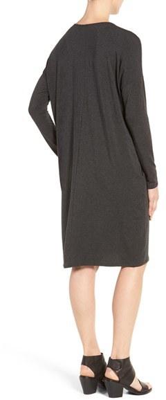 Women's Eileen Fisher Stretch Tencel Jersey Shift Dress 5