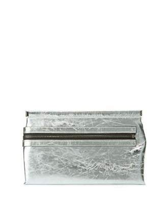 Tom Ford Flat Metallic Leather East-West Frame Clutch Bag