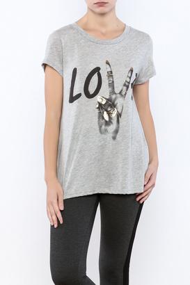 Lauren Moshi Peace Love Tee $96 thestylecure.com