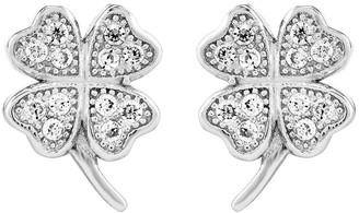 Sterling Petite Four-Leaf Clover Post Earrings