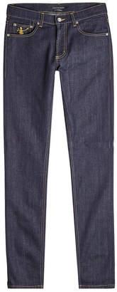 Alexander McQueen Dancing Skull Skinny Jeans