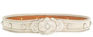 Etro faux pearl encrusted belt