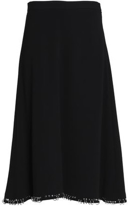 Alexander Wang Ring-Embellished Crepe Midi Skirt