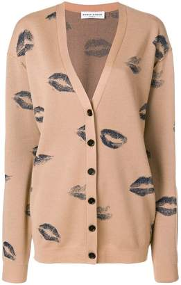 Sonia Rykiel kiss print cardigan