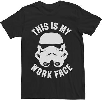 Star Wars Licensed Character Men's Work Face Tee
