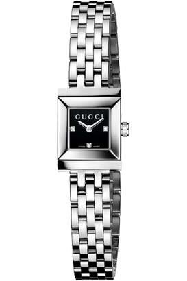 5d64ed1f895 Gucci Ladies G-Frame Diamond Watch YA128507