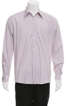 Hermes Gingham Button-Up Shirt