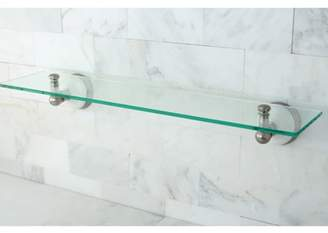 Kingston Brass Satin Nickel Glass Bathroom Shelf