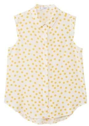 MANGO Sleeveless print shirt