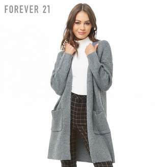 Forever 21 (フォーエバー 21) - Forever 21 オープンフロントロングカーディガン
