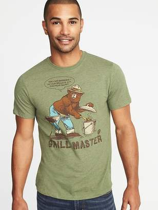 """Old Navy Smokey the Bear """"Grill Master"""" Tee for Men"""