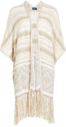 Polo Ralph Lauren Fringed Cardigan with Cotton, Silk and Linen